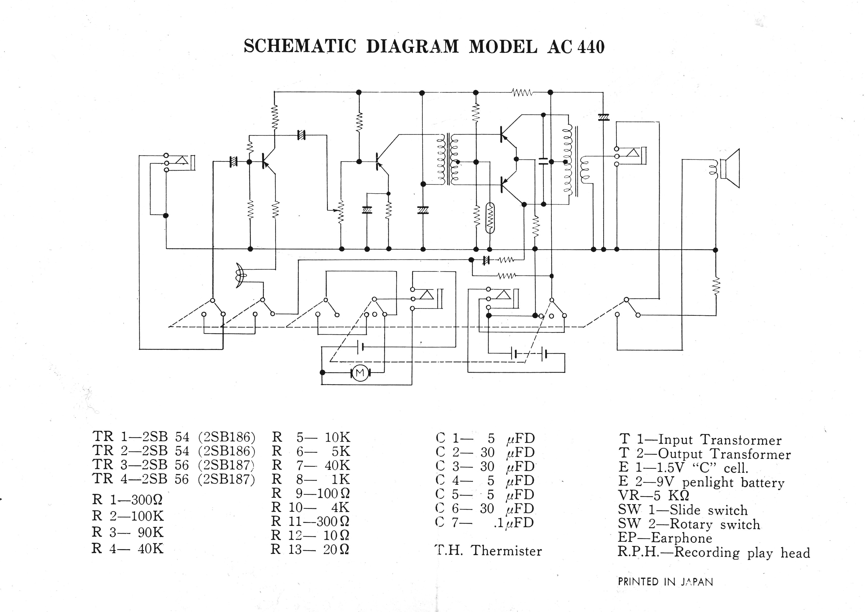 Royal-Call Tape Recorder Schematic
