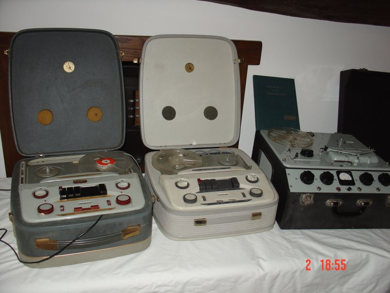 Three of the remaining Radio Kaleidoscope Tape Decks (as used)