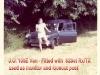 DJ Jolly Orange's Ford Anglia 1200cc Van, used for equipment transport -1969