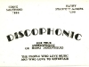 Radio Kaleidoscope Road Show - Discophonic Business Card (1968)