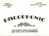 Radio Kaleidoscope Road Show - Discophonic Business Card (1968)