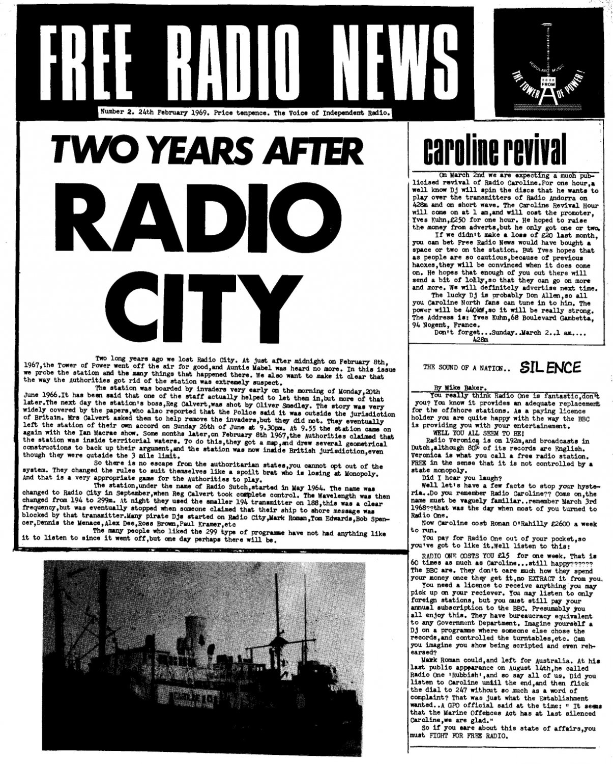 FRC News February 1969 front page
