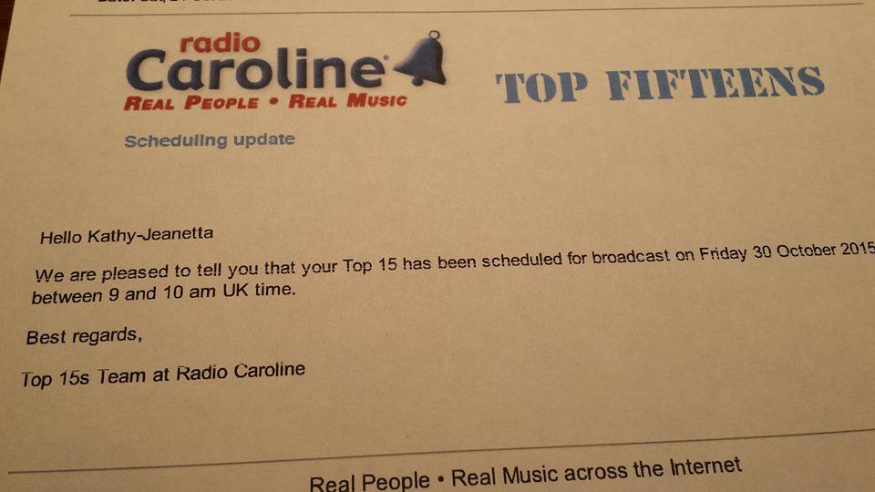 Kathy Jeanette - Radio Caroline Play List