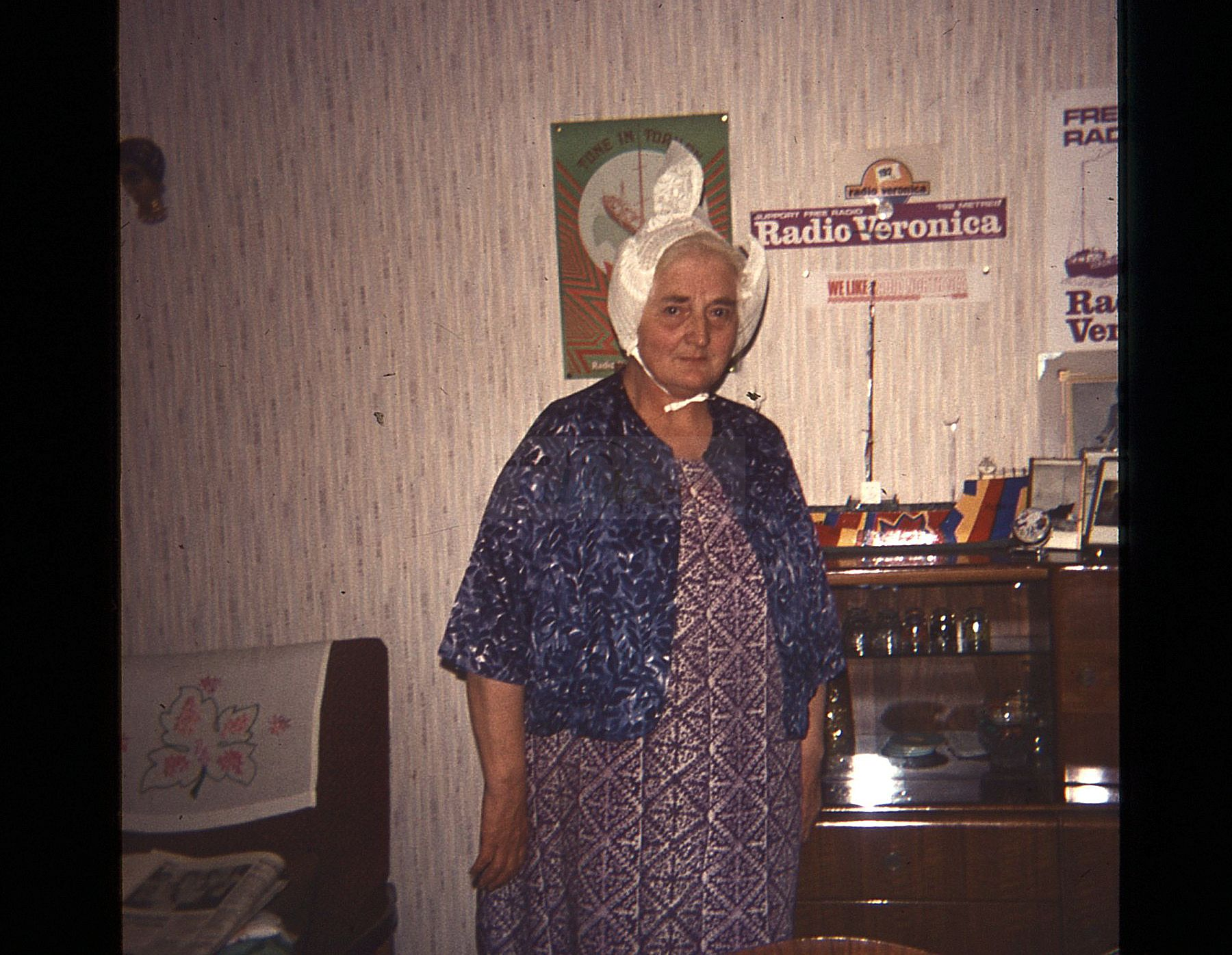 Ellanna Sweeney - Radio Veronica supporter - 1970 (Courtesy Lynn Strang)