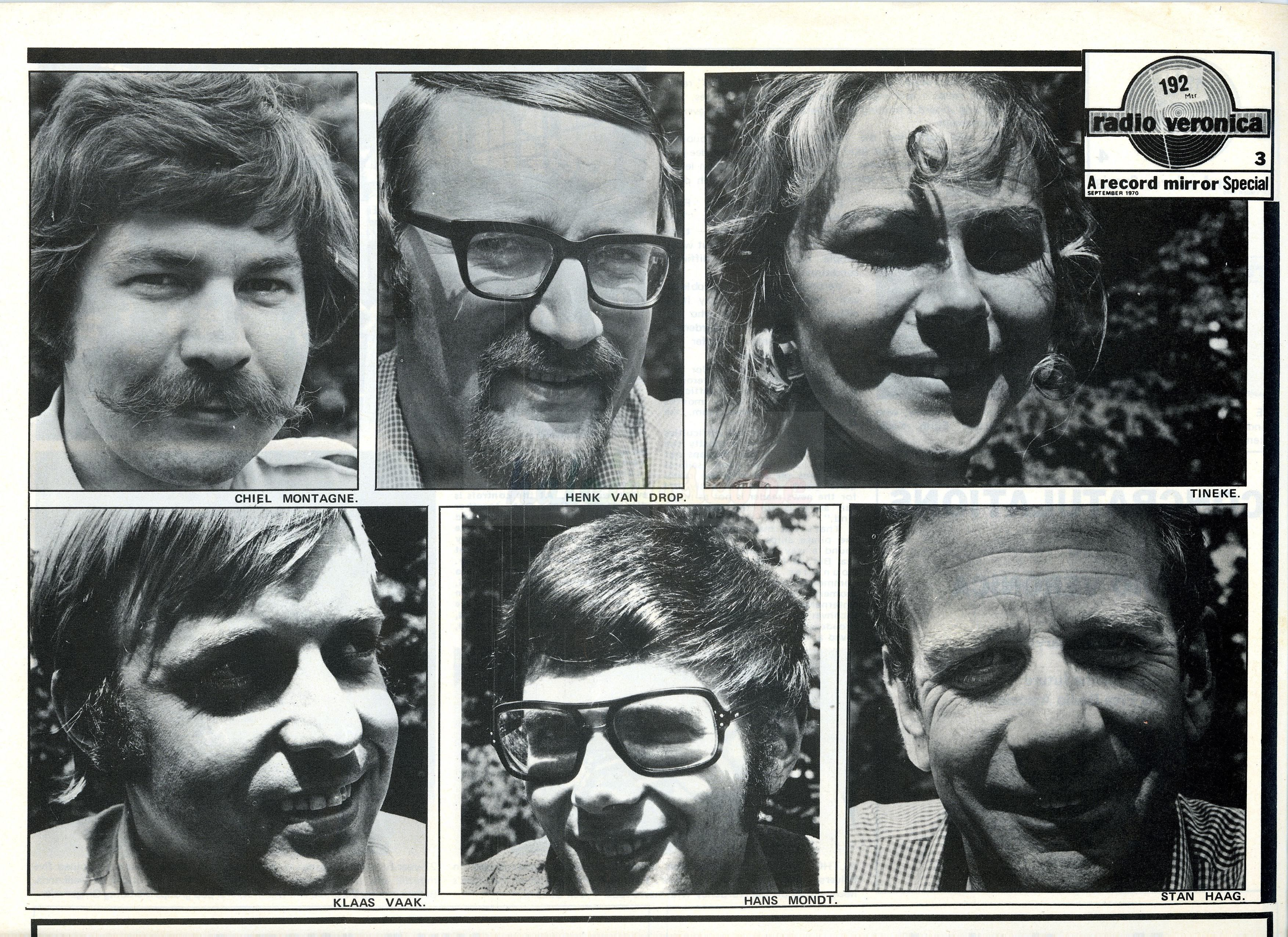 Radio Veronica DJ,s - 1969 (Courtesy Linda Van Schagen)