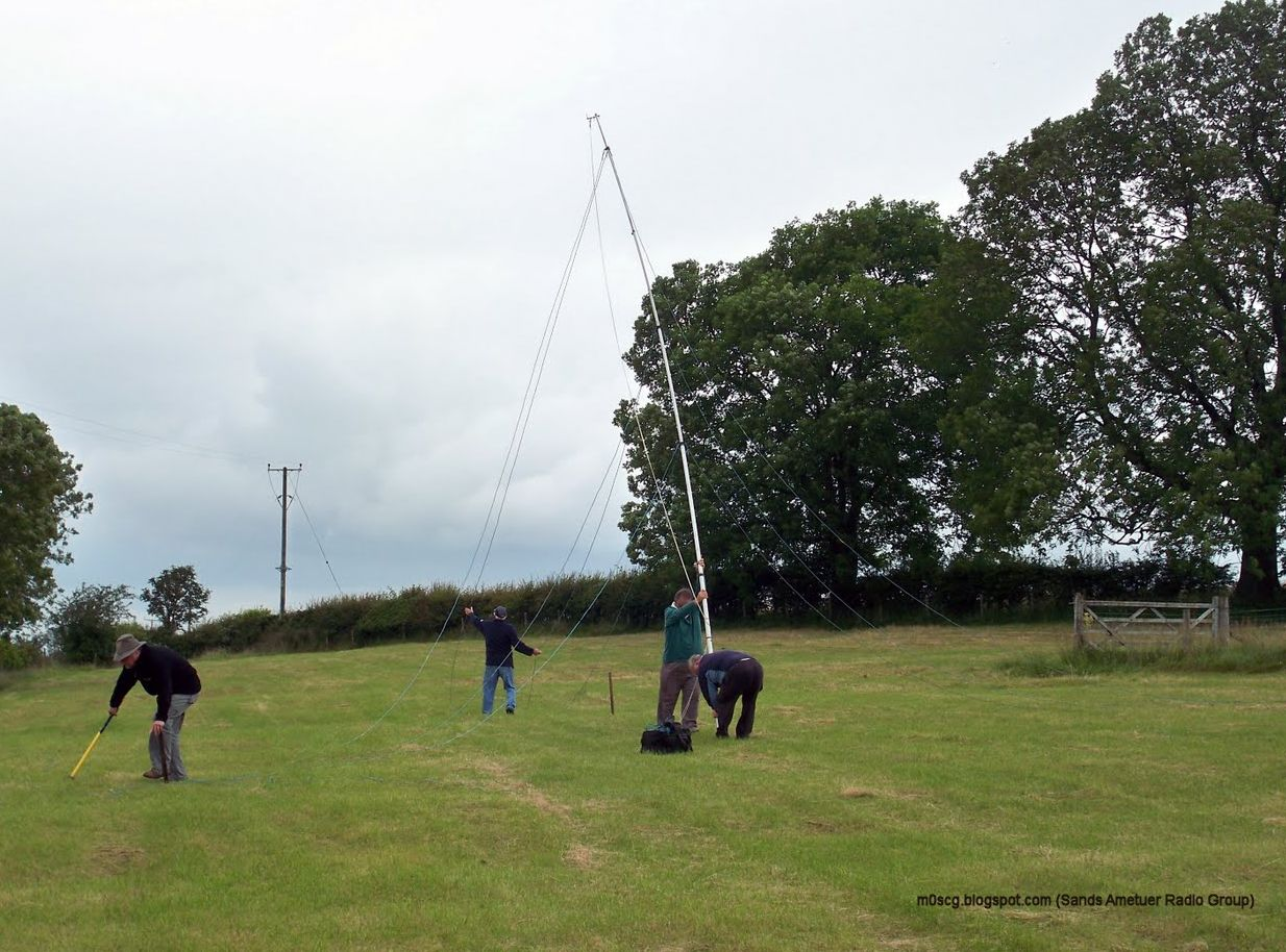 Similar Mast Erection - Sands Amateur Radio Contest Group