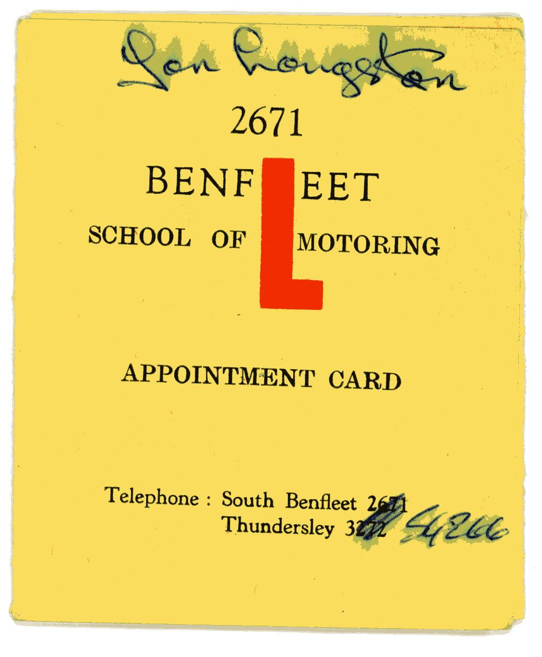 John Langston Motor Lesson Record