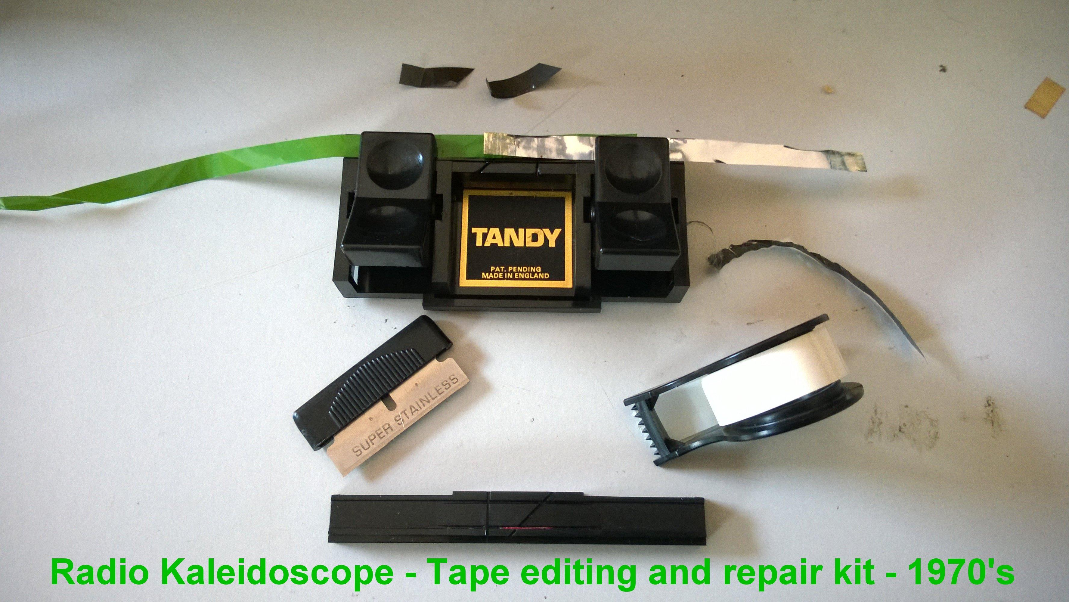 Radio Kaleidoscope Tape editing kit -1970